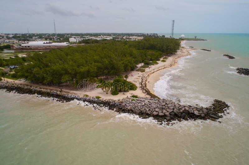 Luftbild Fort Zachary Beach Key West lizenzfreie stockfotografie