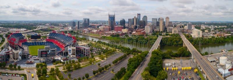 Luftbild im Stadtzentrum gelegenes Nashville TN USA stockfotos