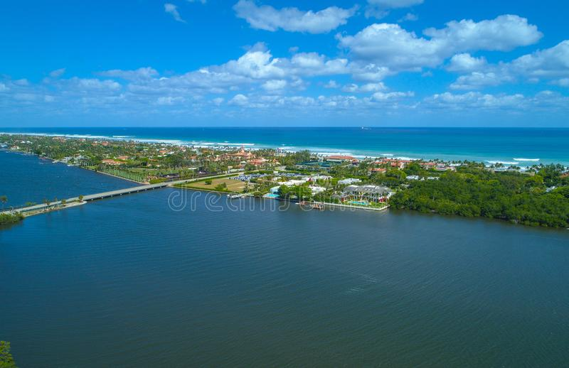 Luftbild Palm Beach Florida stockbild