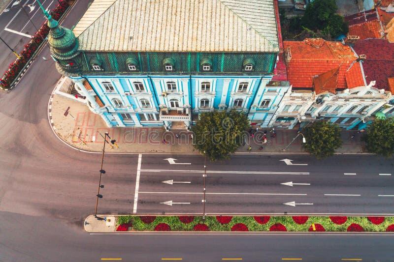 Luftbild Popular Landmark in Varna, Marinehotel stockfoto