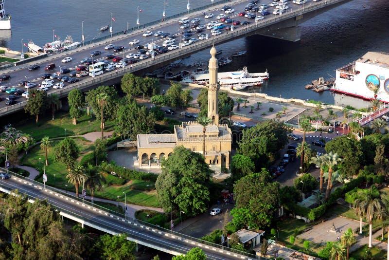 Luftbild von Eneypt cairo stockfotografie
