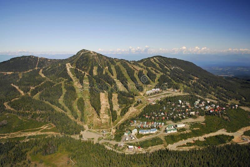Luftbild von Mt Alpines Skiort Washingtons BC Kanada lizenzfreies stockfoto
