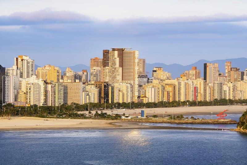 Luftbild von Santos SP Brasilien lizenzfreie stockbilder
