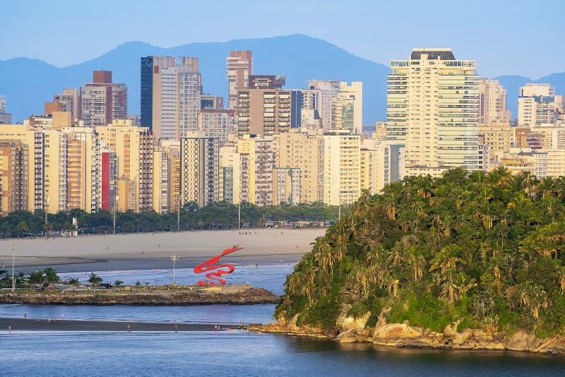 Luftbild von Santos SP Brasilien stockfotos