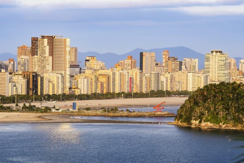 Luftbild von Santos SP Brasilien stockbilder