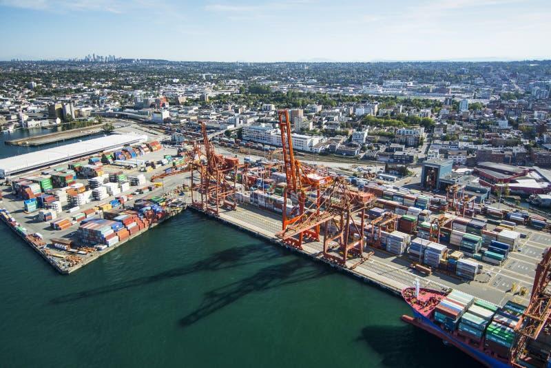 Luftbild von Vancouver, BC lizenzfreie stockfotografie