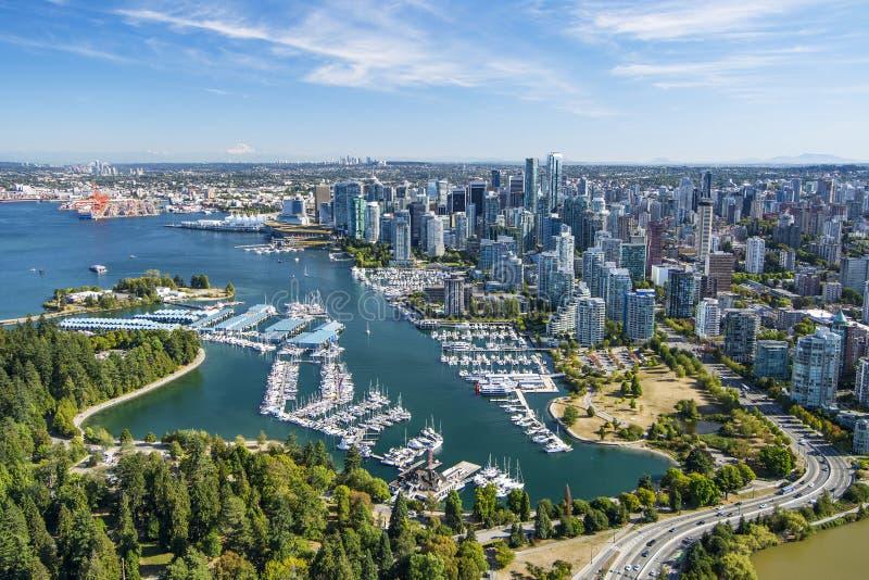 Luftbild von Vancouver BC Britisch-Columbia, Kanada stockbild