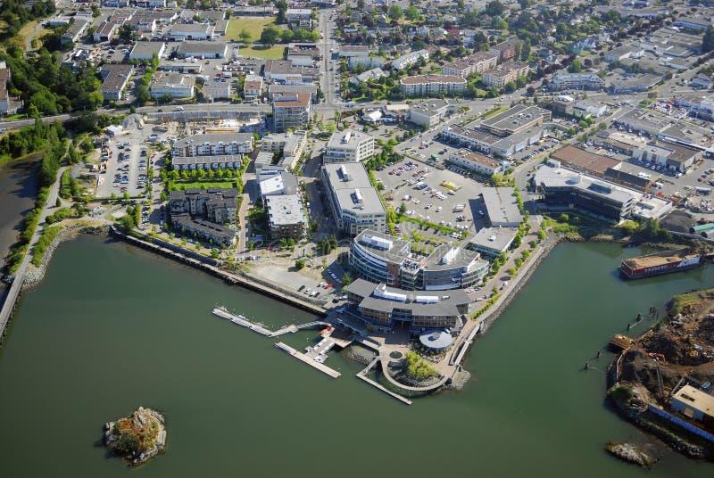 Luftbild von Victoria BC Kanada lizenzfreie stockfotos