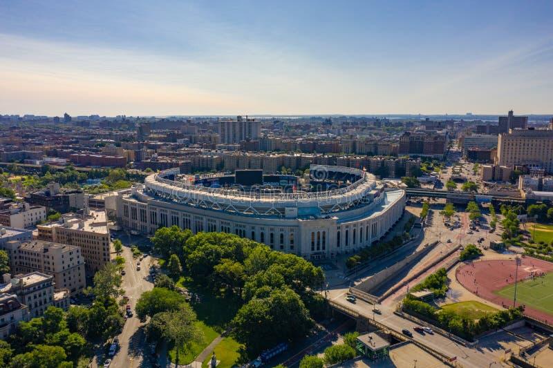 Luftbild Yankee Stadium NY lizenzfreies stockbild