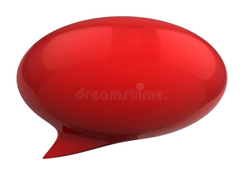 Luftblase der Sprache 3d lizenzfreie abbildung