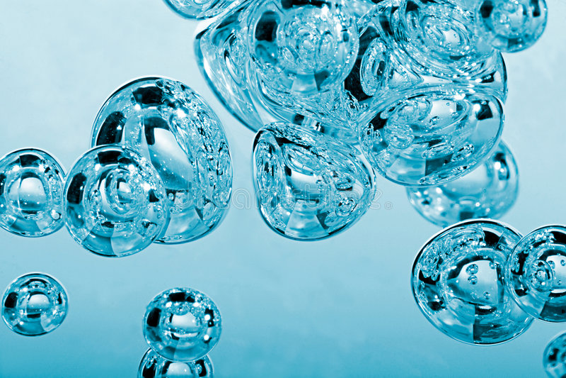 Luftblasen stockfotografie