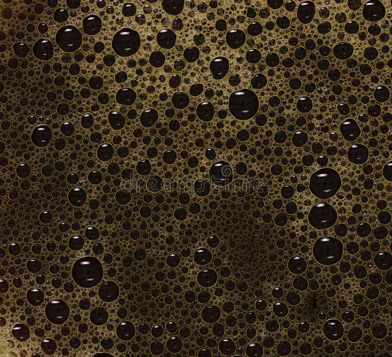 Luftblasen des schwarzen Kaffees stockfotografie