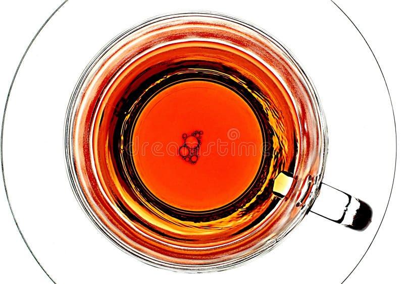 Luftblasen in einem Teacup stockbilder