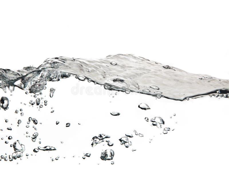 Luftblasen im Wasser getrennt auf Weiß lizenzfreies stockfoto