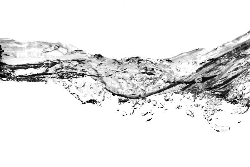 Luftblasen im Wasser - Schwarzweiss lizenzfreies stockfoto