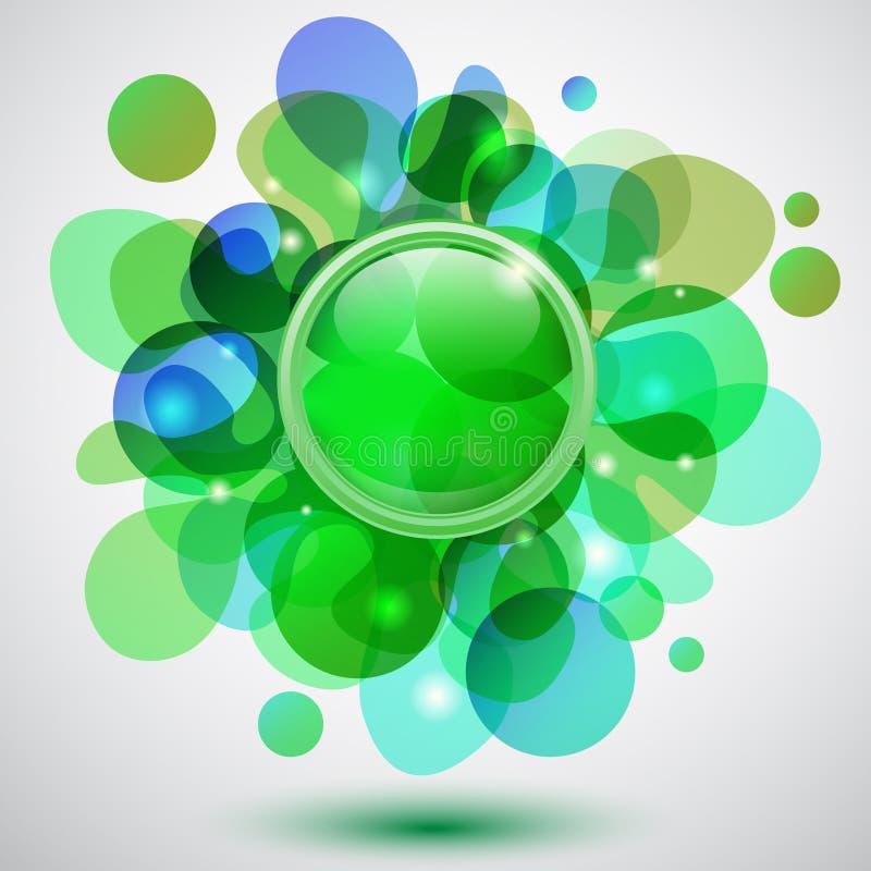 Luftblasen und Taste vektor abbildung