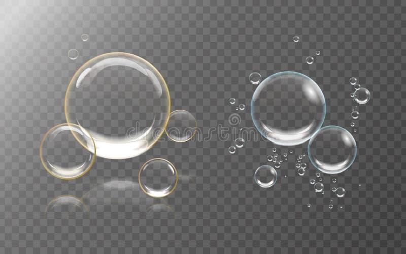 Luftblasen Unterwasser vektor abbildung