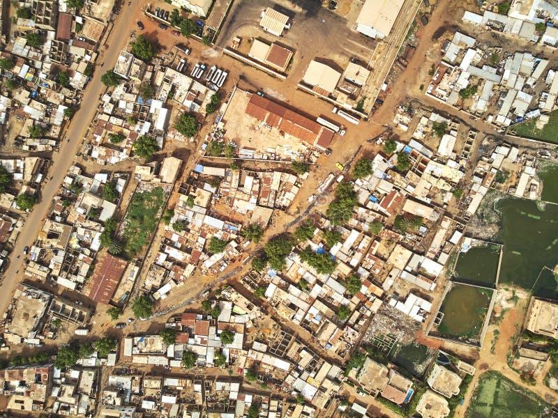 Luftbrummenansicht von niarela Quizambougou Niger Bamako Mali lizenzfreie stockbilder