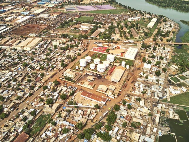 Luftbrummenansicht von niarela Quizambougou Niger Bamako Mali stockfotografie