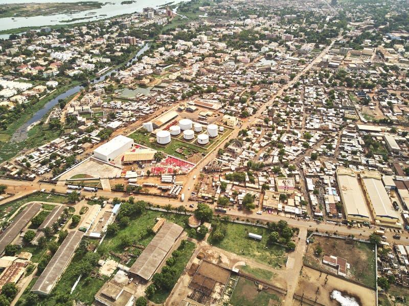 Luftbrummenansicht von niarela Quizambougou Niger Bamako Mali lizenzfreie stockfotografie