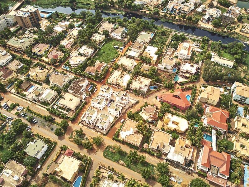 Luftbrummenansicht von niarela Quizambougou Niger Bamako Mali stockfotos