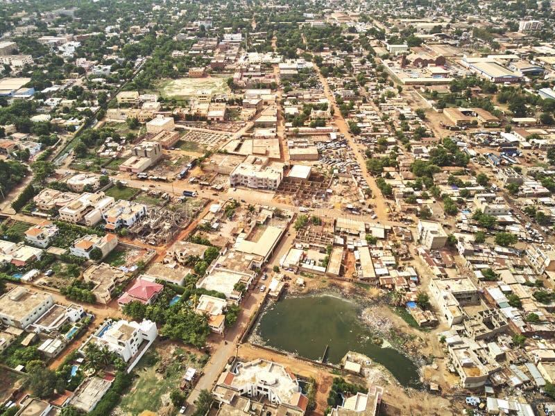 Luftbrummenansicht von niarela Quizambougou Niger Bamako Mali stockfoto