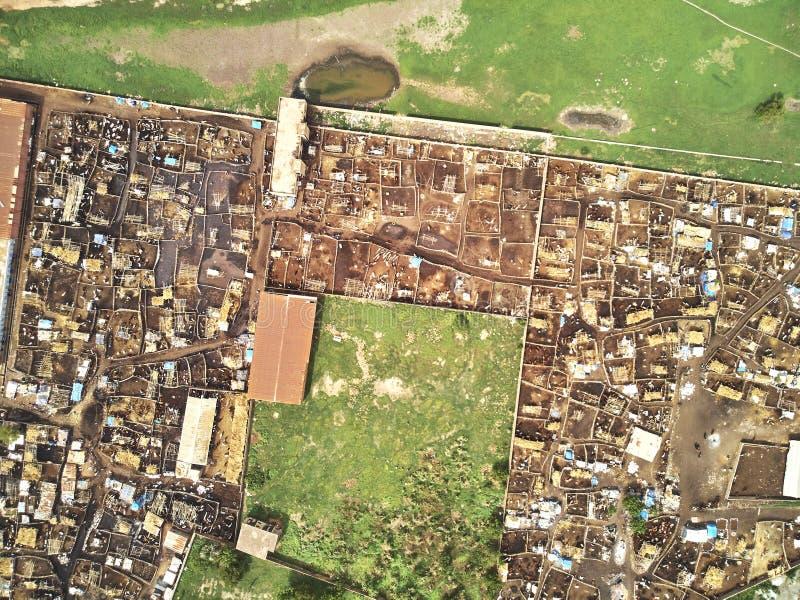 Luftbrummenansicht von niarela Quizambougou Niger Bamako Mali stockbilder