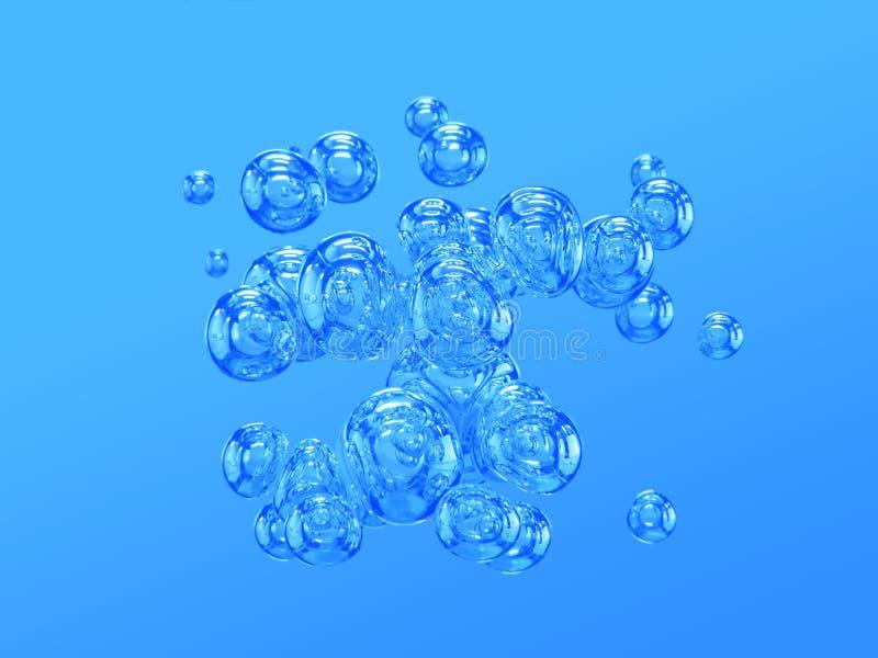 luftbubblor royaltyfri illustrationer