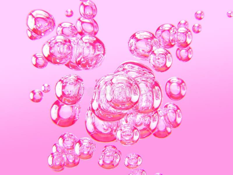 luftbubblor ii stock illustrationer