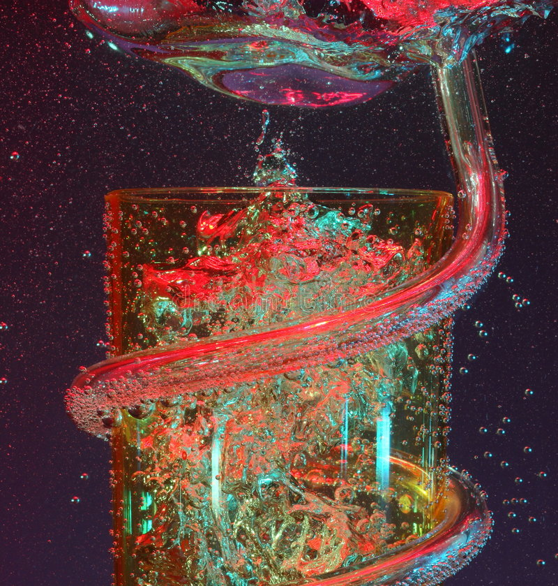luftbubblor party tumbleren fotografering för bildbyråer
