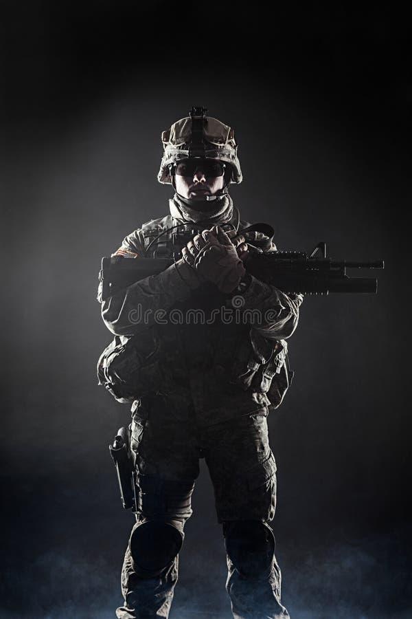 Luftburet infanteri royaltyfria foton