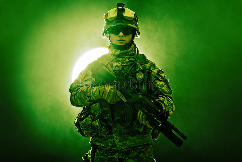 Luftburet infanteri royaltyfria bilder