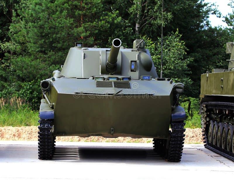 luftburet självgående vapen för mm 120 royaltyfria bilder