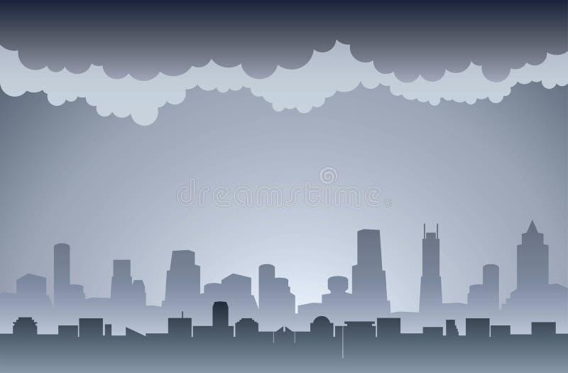 luftförorening royaltyfri illustrationer