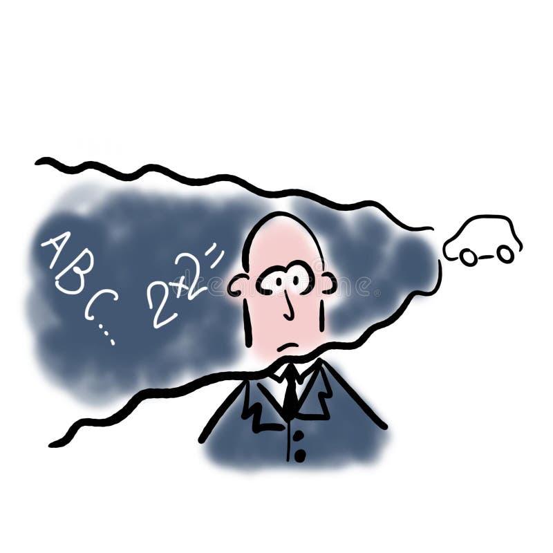 Luftförorening och demens stock illustrationer