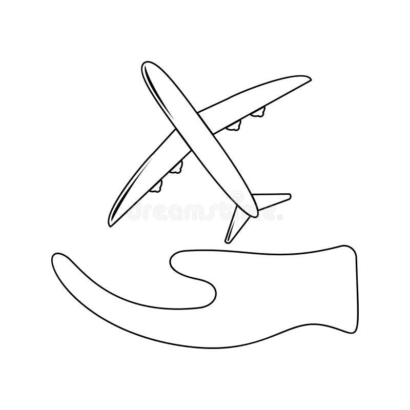 luftförsäkringsymbol Beståndsdel av försäkring för mobilt begrepp och rengöringsdukappssymbol Tunn linje symbol för websitedesign vektor illustrationer