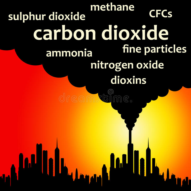 luftförorening vektor illustrationer