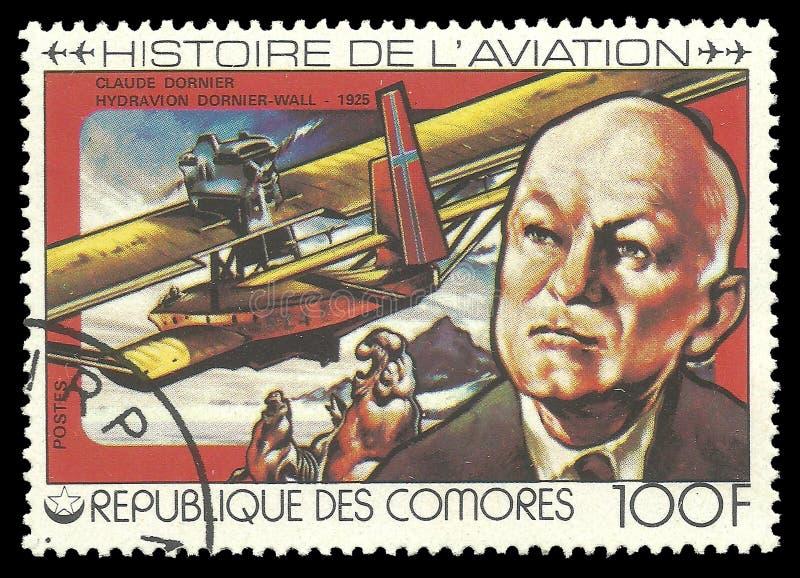 Luftfahrt-Geschichte, Claude Dornier lizenzfreies stockfoto