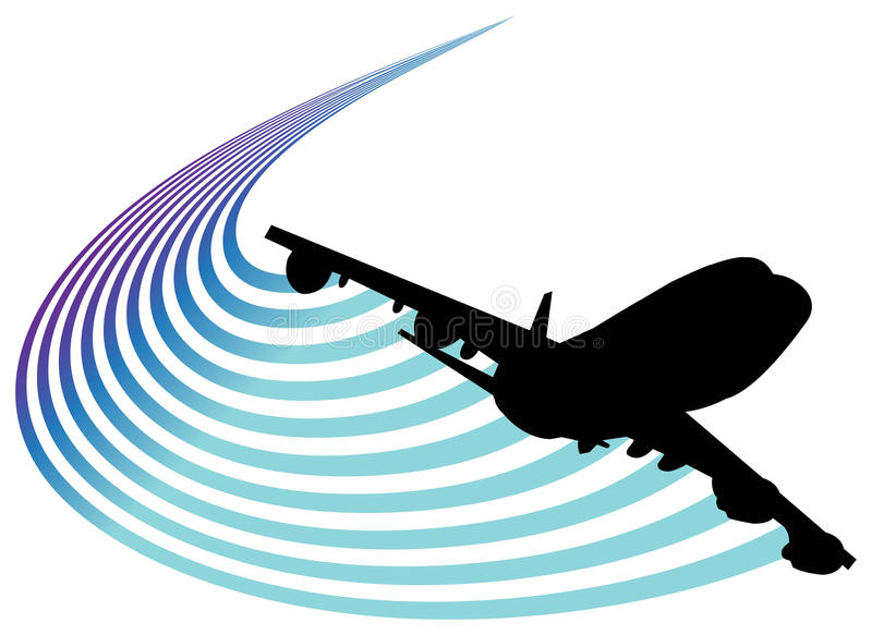 Luftfahrtzeichen stock abbildung