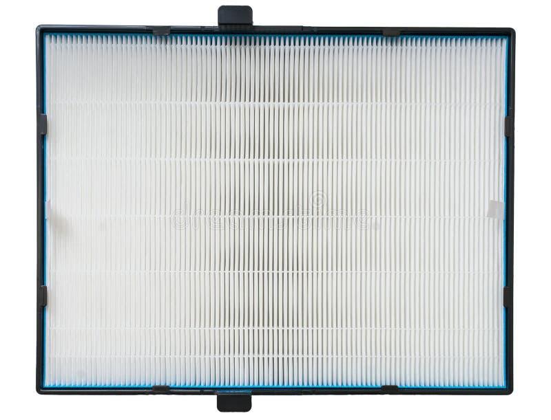 Luftfilter der hohen Leistungsfähigkeit für HVAC-System Auf Weiß stockfotografie