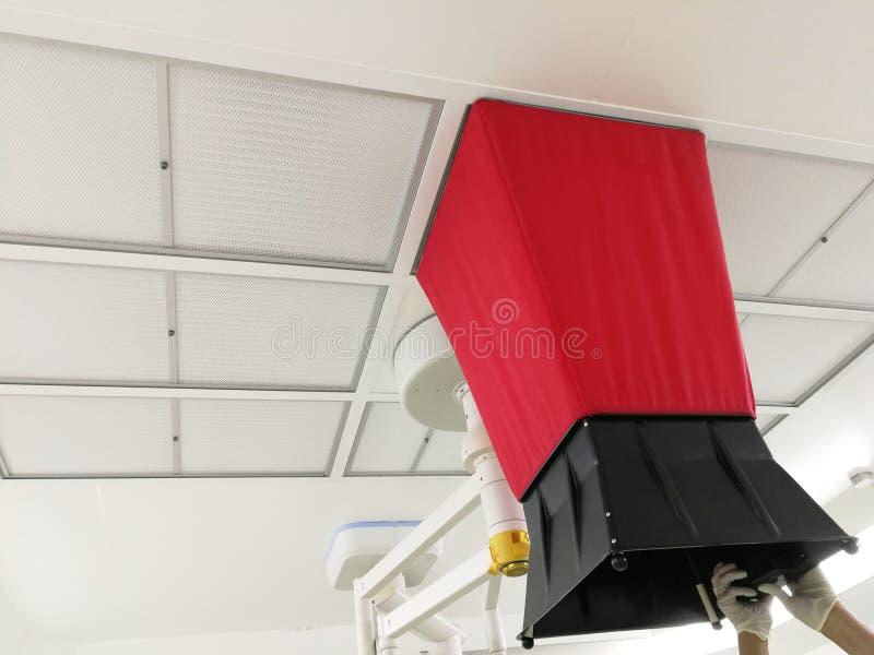 Luftflödesprovet för VAV och beräknande luftändring klassar royaltyfri foto