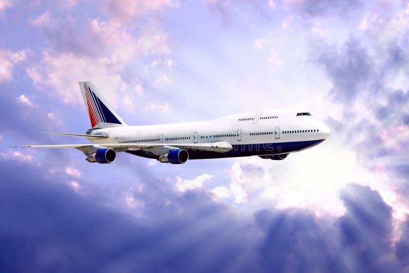 luftflygplan arkivbild
