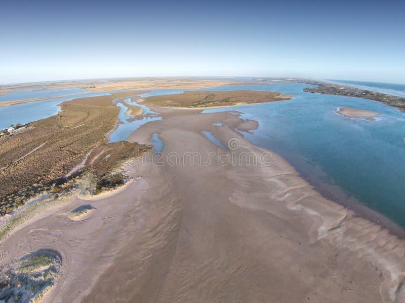 Luftfoto des Coorong lizenzfreie stockfotografie