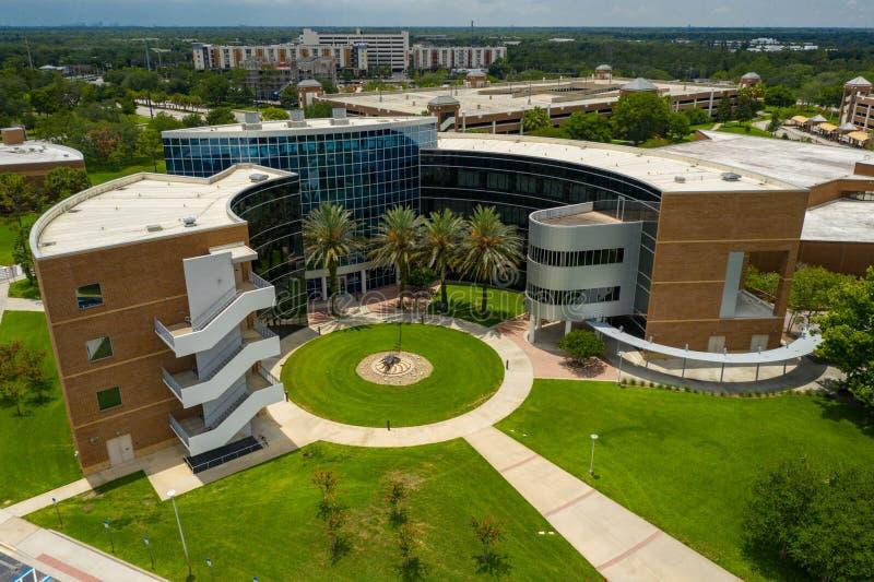 Luftfoto UCF Unterrichts-Hochschuluniversität von zentralem Florida Orlando stockfotos