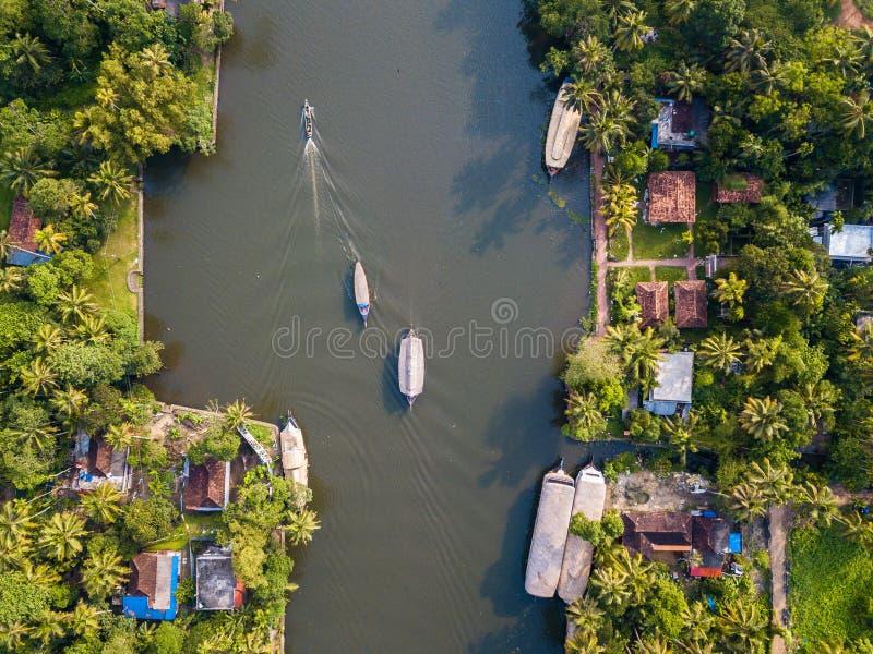 Luftfoto von Alappuzha Indien lizenzfreies stockfoto