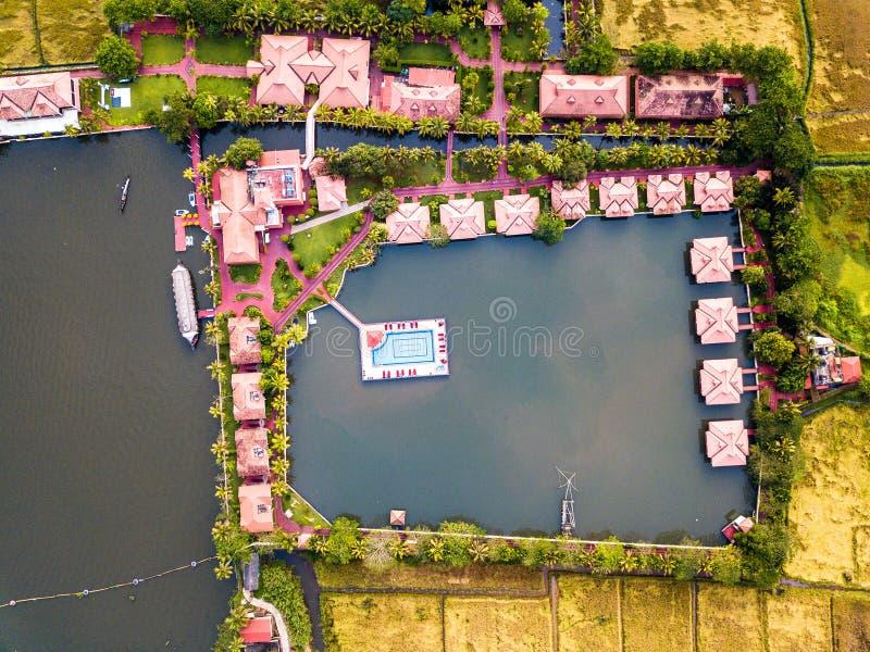 Luftfoto von Alappuzha Indien lizenzfreies stockbild