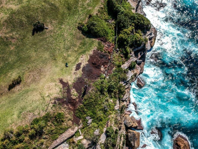 Luftfoto von Sydney - Diamond Bay stockfoto