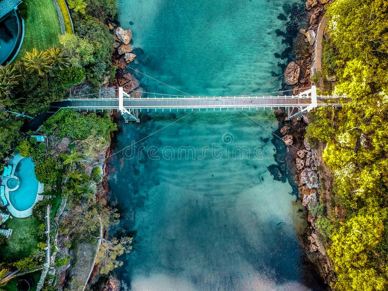 Luftfoto von Sydney - Petersilien-Bucht-Reserve stockbild