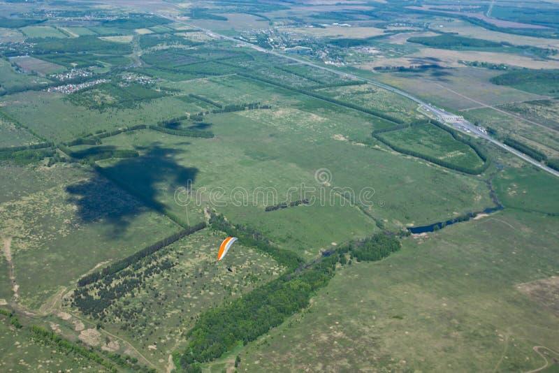 Luftfoto, Wald, Wiese lizenzfreie stockbilder