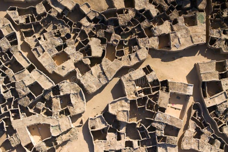 Luftfotographien eines Dorfs in Niger, Afrika lizenzfreie stockfotos